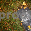 Beck Diefenbach  -  bdiefenbach@daily-chronicle.com<br /> <br /> Gravestone in the DeKalb County Cemetery on Thursday Oct. 29, 2009.