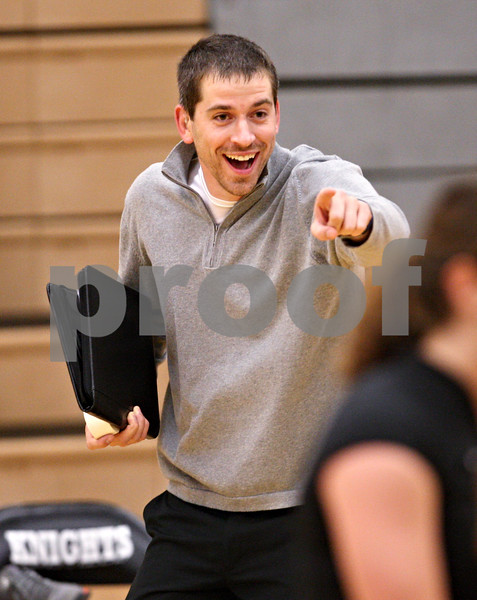 Beck Diefenbach – bdiefenbach@daily-chronicle.com<br /> <br /> Kaneland head coach Todd Weimer rejoices during the third period of the game against DeKalb High School at Kaneland High School in Maple Park, Ill., on Saturday Sept. 19, 2009.