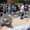 Beck Diefenbach  -  bdiefenbach@daily-chronicle.com<br /> <br /> People gather for the National Day of Prayer outside the DeKalb County Courthouse  in Sycamore, Ill., on Thursday May 7, 2009.