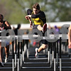 Beck Diefenbach  -  bdiefenbach@daily-chronicle.com<br /> <br /> Sycamore's Anthony Zimmer competes in the 110 meter hurdles during the Gib Seegers Track and Field Classic at Sycamore High School in Sycamore, Ill., on Friday May 1, 2009.