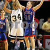 Beck Diefenbach – bdiefenbach@daily-chronicle.com<br /> <br /> Hinckley-Big Rock guard Kaitlin Phillips  attempts to block a pass by Winchester West Central guard Keri Lietz (34) during the first quarter of the Class 1A State Championship at the Redbird Arena in Normal, Ill., on Saturday Feb. 28, 2009.