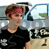 Rob Winner – rwinner@daily-chronicle.com<br /> Katie Visco looks to the west as she prepares to begin running again after a short break on Wednesday morning, as her mother climbs into a van that is following along her journey across the nation.<br /> 07/08/2009