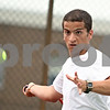 Beck Diefenbach  -  bdiefenbach@daily-chronicle.com<br /> <br /> DeKalb tennis player Rafael Ramalho during practice at DeKalb High School in DeKalb, Ill., on Tuesday May 26, 2009.