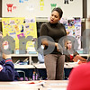 Beck Diefenbach  -  bdiefenbach@daily-chronicle.com<br /> <br /> Brooks Elementary School principal Shahran Spears leads a discussion on discipline during a parent night at Jefferson Elementary School in DeKalb, Ill., on Thursday Oct. 29, 2009.