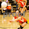 Beck Diefenbach  -  bdiefenbach@daily-chronicle.com<br /> <br /> DeKalb Kendall Baum (5) saves the ball during the first period of the game against DeKalb at Sycamore High School in Sycamore, Ill., on Thursday Oct. 15, 2009.