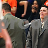 Beck Diefenbach  -  bdiefenbach@daily-chronicle.com<br /> <br /> DeKalb assistant coach Chad Pecka shouts out to his players during the second quarter of the game against Kaneland at Kaneland High School in Maple Park, Ill., on Friday Jan. 23, 2009.