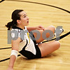 Beck Diefenbach  -  bdiefenbach@daily-chronicle.com<br /> <br /> Sycamore's Justine Schepler (8) watches her volley during the first game of their match against Geneva High School in Sycamore, Ill., on Thursday Sept. 17, 2009. Geneva beat Sycamore 2-0.