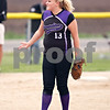 Beck Diefenbach  -  bdiefenbach@daily-chronicle.com<br /> <br /> Hampshire pitcher Tegan Singleton (13) watches a foul ball during the sixth inning of the game against Hampshire at Burlington Central High School in Burlington, Ill., on Thursday May 28, 2009.