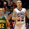 Rob Winner – rwinner@daily-chronicle.com<br /> Hinckley-Big Rock's Maxzine Rossler heads to the basket for two after stealing the ball away from Seneca's Lexi Shenberg (12) in the first quarter on Saturday December 19, 2009 in Hinckley, Ill.