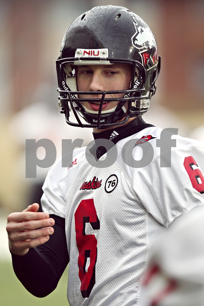 Beck Diefenbach  -  bdiefenbach@daily-chronicle.com<br /> <br /> Northern Illinois' Jody Van Laanen (6) during practice at NIU's Huskie Stadium in DeKalb, Ill., on Tuesday March 24, 2009.