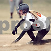 Beck Diefenbach  -  bdiefenbach@daily-chronicle.com<br /> <br /> DeKalb's Carlie Varga slides unopposed into second base during the bottom of the third inning of the first game in a double header against Elgin High School at DeKalb High School in DeKalb, Ill., on Monday March 23, 2009.