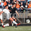 Beck Diefenbach  -  bdiefenbach@daily-chronicle.com<br /> <br /> Sycamore's Karissa Miller (10) and Freeport's Caitlin Green (7) battle for the ball during the second half of the IHSA Class 2A Sectional final game at Belvidere High School in Belvidere, Ill., on Friday May 29, 2009.