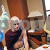 Beck Diefenbach  -  bdiefenbach@daily-chronicle.com<br /> <br /> Kevin waits as a nurse prepares an injection before another round of Chemotherapy at Kishwaukee Community Hospital on Tuesday April 7, 2009.