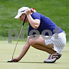 Beck Diefenbach  -  bdiefenbach@daily-chronicle.com<br /> <br /> USA's Brittany Lincicome lines up her put on the 10th green during the match against team Europe at the Solheim Cup in Sugar Grove, Ill., on Saturday Aug. 22, 2009.