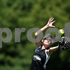 Beck Diefenbach  -  bdiefenbach@daily-chronicle.com<br /> <br /> Kishwaukee Valley Storm's Alex Lyons (55) misses a pop-fly during a 14-under game against the Chicago Out Burst during Storm Dayz in Sycamore, Ill., on Sunday June 28, 2009.