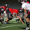 Beck Diefenbach  -  bdiefenbach@daily-chronicle.com<br /> <br /> Defensive tackle D.J. Pirkle (96) during practice at Huskie Stadium of Northern Illinois University in DeKalb, Ill., on Tuesday Sept. 1, 2009.