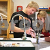 Beck Diefenbach  -  bdiefenbach@daily-chronicle.com<br /> <br /> Senior Molli Payne, right, and junior David Lord work together to identify and classify the three main types of rock samples given to them during science class at Sycamore High School in Sycamore, Ill., on Thursday Dec. 3, 2009.