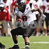 Beck Diefenbach – bdiefenbach@daily-chronicle.com<br /> Northern Illinois' Me'co Brown (8) switches direction while rushing with the ball during the fourth quarter of the game against Purdue University in West Lafayette, Ind., on Saturday Sept. 19, 2009. NIU defeated Purdue 28 to 21.