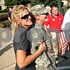 Beck Diefenbach  -  bdiefenbach@daily-chronicle.com<br /> <br /> After returning home from Afghanistan while serving for the Army, Alexis Hitzeroth, right, is embraced by her mother Dorothy outside the DeKalb County Courthouse in Sycamore, Ill., on Thursday Sept. 10, 2009.
