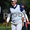 Beck Diefenbach  -  bdiefenbach@daily-chronicle.com<br /> <br /> USA's Brittany Lang is congratulated by her caddy following the 8th hole against team Europe at the Solheim Cup in Sugar Grove, Ill., on Saturday Aug. 22, 2009.