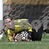 Beck Diefenbach  -  bdiefenbach@daily-chronicle.com<br /> <br /> DeKalb goalie Nicole Smith protects the net during the first half of the game against Sycamore High School at Sycamore High School in Sycamore, Ill., on Thursday April 30, 2009. Sycamore beat DeKalb 4 to 0.