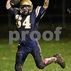Beck Diefenbach  -  bdiefenbach@daily-chronicle.com<br /> <br /> Hiawatha offensive lineman Nick Parisot (34) celebrates after scoring a touchdown against North Shore Country Day School during the second quarter of the game at Hiawatha High School in Kirkland, Ill., on Friday Oct. 23, 2009.