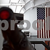 Beck Diefenbach – bdiefenbach@daily-chronicle.com<br /> <br /> The American flag hangs on the wall of the Sycamore Armory in Sycamore, Ill., on Wednesday March 11, 2009.