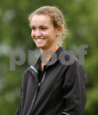 Rob Winner – rwinner@daily-chronicle.com<br /> Hayley Guyton of the Kaneland golf team.<br /> 08/27/2009