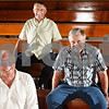 Beck Diefenbach  -  bdiefenbach@daily-chronicle.com<br /> <br /> From top, Ron Espe, Denny Fleming and Bill Mullins of the 1959 Shabbona High School basketball team.