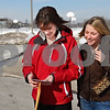 Beck Diefenbach  -  bdiefenbach@daily-chronicle.com<br /> <br /> Left, Kate Braser, program coordinator for Northern Illinois University's honors program and NIU senior Kim Nelson look through a stack of index cards with statements describing acts of kindness after picking them up from South Prairie Elementary School in Sycamore, Ill., on Friday Feb. 6, 2009. The index cards, part of Huskie Acts of Kindness, were written by students who were asked to do an act for kindness in preparation of the anniversary of the Feb. 14th shootings.