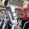 Beck Diefenbach  -  bdiefenbach@daily-chronicle.com<br /> <br /> Ken Williams, of Sycamore, works out on an elliptical machine at the Kishwaukee YMCA in Sycamore, Ill., on Wednesday April 15, 2009.