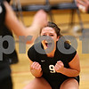 Beck Diefenbach – bdiefenbach@daily-chronicle.com<br /> <br /> Kaneland's Jessica Lubic (9) celebrates following a point during the third period of the game against DeKalb High School at Kaneland High School in Maple Park, Ill., on Saturday Sept. 19, 2009.