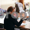 Beck Diefenbach  -  bdiefenbach@daily-chronicle.com<br /> <br /> Judy LaPorta, of Sycamore, talks about her job search efforts during during a job search networking class hosted by St. Peter's Episcopal Church in Sycamore, Ill., on Wednesday April 8, 2009. LaPorta is currently unemployed and helped create the series of classes for local job seekers.