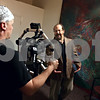 Rob Winner – rwinner@kcchronicle.com<br /> Michael Gentile (left) films Bear Wolf during a scene for a movie by NIU communication student Jennifer Rayphole (not pictured) at the old Sycamore Hospital building on Saturday afternoon.<br /> 07/18/2009