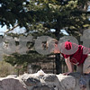 "Beck Diefenbach  -  bdiefenbach@daily-chronicle.com<br /> <br /> Dolan Hereck, 4, climbs a brick bench while having a picnic with his mother Erin, of Sycamore, at the NIU Lagoon on the Northern Illinois University campus in DeKalb on Friday April 17, 2009. ""It's a beautiful day and wanted to get out,"" Erin Hereck said. It was Dolan's first time at the lagoon."