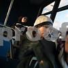 Beck Diefenbach  -  bdiefenbach@daily-chronicle.com<br /> <br /> Northern Illinois University student Veronica Martin gets a ride home after classes on a Northern Illinois University bus in DeKalb, Ill., on Thursday Feb. 14, 2009.
