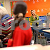 Beck Diefenbach  -  bdiefenbach@daily-chronicle.com<br /> <br /> Kindergarten teacher Sue Stensland explains the Make It Take It bag, an assortment of tools parents can take home to promote reading skills with their children during a parent night at Jefferson Elementary School in DeKalb, Ill., on Thursday Oct. 29, 2009.