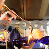 Beck Diefenbach  -  bdiefenbach@daily-chronicle.com<br /> <br /> Jason Gordon, scientific glass blower for the Northern Illinois University chemistry department, heats up borosilicate glass to make an oil candle in Faraday West Hall on campus in DeKalb, Ill., on Wednesday Nov. 25, 2009. The oil candle, and other art pieces, were made for the department's annual fundraiser on Tuesday Dec. 1, 2009.