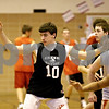 Rob Winner – rwinner@daily-chronicle.com<br /> Seth Sanderson of the Indian Creek basketball team works out with his teammates at Waterman Middle School in Waterman, ILL. on Tuesday December 8, 2009.