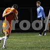 Rob Winner – rwinner@daily-chronicle.com<br /> DeKalb's Niko Tsiagalis reacts after a missed scoring opportunity during the first half.