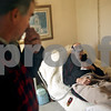 Beck Diefenbach  -  bdiefenbach@daily-chronicle.com<br /> <br /> Jamie Willrett talks with his father Jim, an ALS patient, about the poor crop conditions at their home in Malta, Ill., on Thursday Oct. 16, 2009.