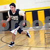Beck Diefenbach – bdiefenbach@daily-chronicle.com<br /> <br /> Sycamore Shane Carnahan runs drills during practice at Sycamore High School in Sycamore, Ill., on Monday Feb. 23, 2009.