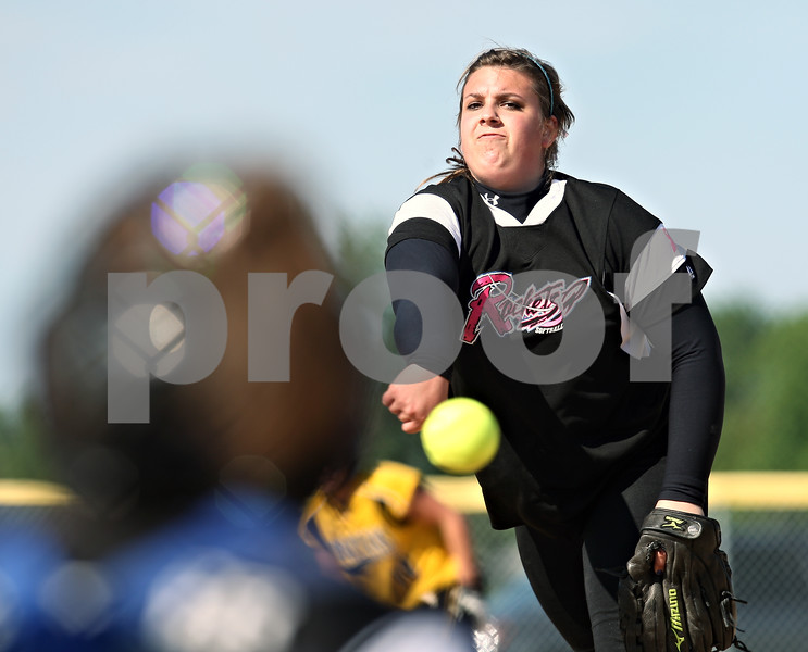 Beck Diefenbach  -  bdiefenbach@daily-chronicle.com<br /> <br /> Burlington Central pitcher Mackenzie Scott (00) releases the ball during the top of the fourth inning of the Class 3A Rochelle Sectional semi-final game at Rochelle High School in Rochelle, Ill., on Wednesday June 3, 2009.