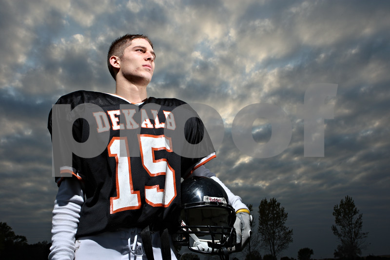 Rob Winner – rwinner@daily-chronicle.com<br /> <br /> DeKalb High senior Dylan Donnelly is set to play his final game Friday night.<br /> <br /> 10/20/2009
