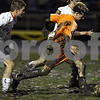 Rob Winner – rwinner@daily-chronicle.com<br /> In the second half, Sammy Lake moves the ball into Freeport territory during the IHSA Class 2A Freeport Sectional at Belvidere on Friday October 30, 2009. DeKalb lost to Freeport, 1-0.