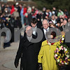 Beck Diefenbach  -  bdiefenbach@daily-chronicle.com<br /> <br /> From right, Northern Illinois University President John Peters Chairwoman of the Board of the Trustees Cherilyn Murer lead the procession of the memorial wreaths on the campus of Northern Illinois University in DeKalb, Ill., on Saturday Feb. 14, 2009.
