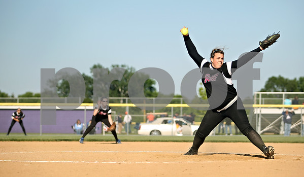Beck Diefenbach  -  bdiefenbach@daily-chronicle.com<br /> <br /> Burlington Central pitcher Mackenzie Scott (00) winds up during the top of the seventh inning of the Class 3A Rochelle Sectional semi-final game at Rochelle High School in Rochelle, Ill., on Wednesday June 3, 2009.
