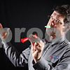 """Beck Diefenbach  -  bdiefenbach@daily-chronicle.com<br /> <br /> David Barrow created the """"Hard Times Survival Kit."""" The kazoo replaces your MP3 player, while the telescopes lets you watch your neighbor's cable television."""
