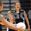 Beck Diefenbach  -  bdiefenbach@daily-chronicle.com<br /> <br /> Sycamore's Jillian Johnson (3) during the second game of their match against Geneva High School in Sycamore, Ill., on Thursday Sept. 17, 2009. Geneva beat Sycamore 2-0.