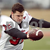 Beck Diefenbach  -  bdiefenbach@daily-chronicle.com<br /> <br /> Northern Illinois' Josh Wilber (92) during practice at NIU's Huskie Stadium in DeKalb, Ill., on Tuesday March 24, 2009.